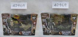 24 Units of 3 Asstd. Military Set W/ 3.75in SoldieR- 4.5in Atv & - Action Figures & Robots
