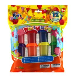 12 Units of 12pcs 2 Oz Dough In Printed Polybag - Clay & Play Dough