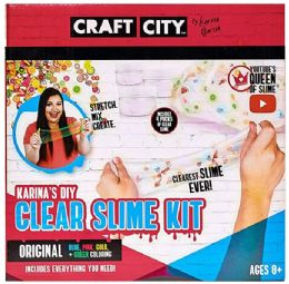 """6 Units of 10""""x10"""" Craft City Clear Diy Slime Kit - Clay & Play Dough"""