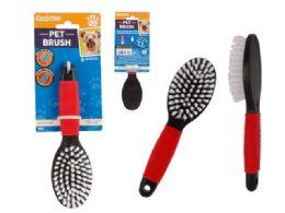 96 Wholesale Pet Brush Nylon with Rubber Grip