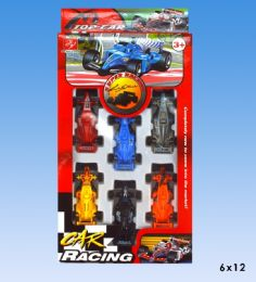 72 Units of 6pcs racing car in blister card - Cars, Planes, Trains & Bikes