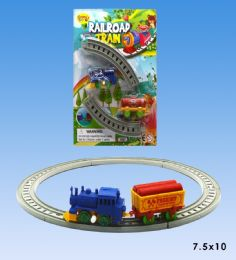 48 Units of Train set in blister card - Cars, Planes, Trains & Bikes