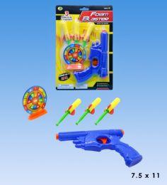 48 Units of Foam dart gun in blister card - Toy Weapons