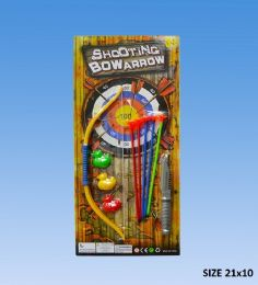 48 Units of Bow & Arrow in blister card - Toy Weapons