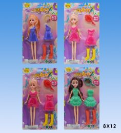 48 Units of 11 Dolls with dress in blister card - Dolls