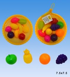 48 Units of Vegetables with basket in net - Girls Toys