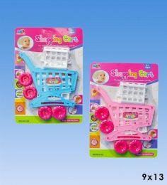 48 Units of Shopping cart set in blister card - Girls Toys