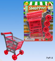 48 Units of Mini Shopping cart in blister card - Girls Toys