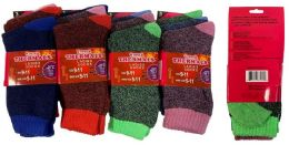 12 Units of Wholesale Lady Winter thermals Socks - Womens Thermal Socks