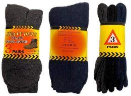 60 Units of Wholesale Heavy Duty Man Winter Socks - Mens Thermal Sock