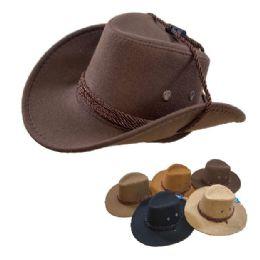 24 Wholesale KIds/Child's Cowboy Hat Rope Hat Band