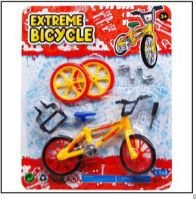 72 Bulk Bicycle With Accessory On Blister Card 3 Assorted Color