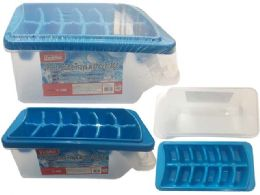 48 Units of Ice Cube Tray with Tong - Freezer Items