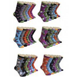 360 Units of Ladies Crew Socks Bird Series - Womens Crew Sock