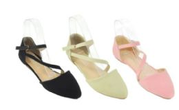 18 of Womens Solid Color Strappy Ballet Flats