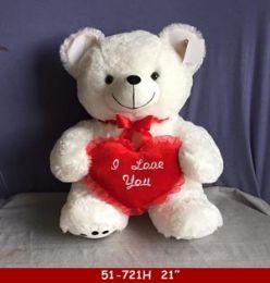 8 Units of DIG WHITE HUG BEAR WITH HAERT - Valentines