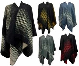 12 Units of Wholesale Wrap Poncho Assorted styles - Winter Pashminas and Ponchos
