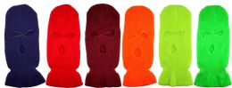 36 of Wholesale Neon Color Winter Mask/ Hat 3 Hole