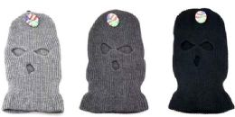 36 of Wholesale 3 Hole Winter knitted Mask/ Hat