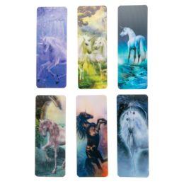 48 Units of Lenticular Unicorn Bookmark - Books