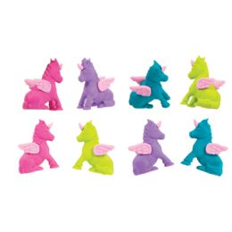 72 Units of Flying Unicorn Eraser Toppers - Erasers