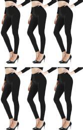 6 of Yacht & Smith Womens Stretch One Size Black Heavy Fleece Winter Warm Leggings