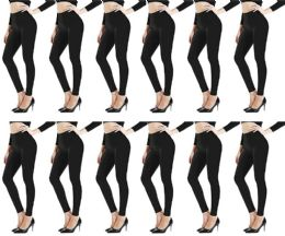 12 of Yacht & Smith Womens Stretch One Size Black Heavy Fleece Winter Warm Leggings