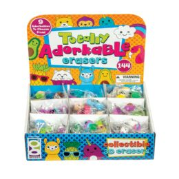 144 Units of Totally Adorkable Erasers - Erasers