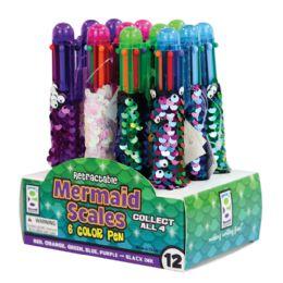 24 Bulk Mermaid Scales 6-Color Pens