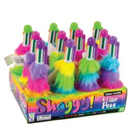 24 Bulk Shaggy 6-Color Pens