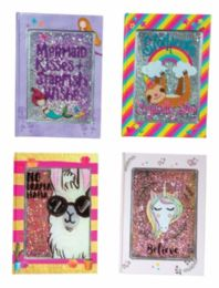 36 Wholesale Glitter Cover Journals