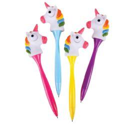 24 Bulk Pop Out Eye Unicorn Pens