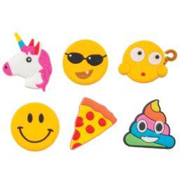 72 Units of Emoji Flexible Magnets - School Supplies