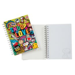 24 Wholesale Peanuts Spiral Journals w/ Small Die Cut Notepads
