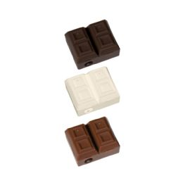48 Bulk Chocolate Bar Pencil Sharpeners with Scented Erasers