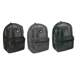 "3 Units of Mesh Backpack - Backpacks 17"""