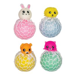 24 Units of Animal Mesh Squeeze Balls - Toys & Games