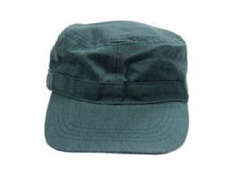 60 Wholesale Universal Size Dark Green Cotton Military Hat