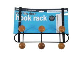 9 Bulk 6-Hook Wood and Steel Over The Door Hanging Rack