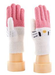 72 Units of Children's Knitted Gloves - Kids Winter Gloves