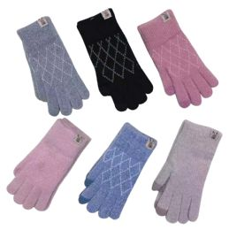 72 Units of Knitted Women's Gloves - Winter Gloves