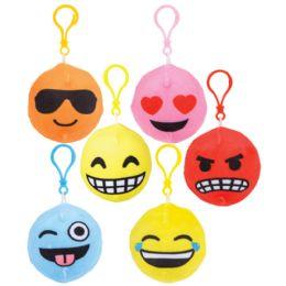 12 Bulk 3 Inch Squish Plush Emoticon Clips