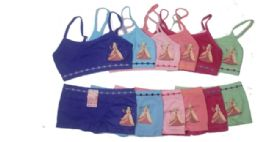 36 Units of Girls Seamless Bra And Boxer Set - Girls Underwear and Pajamas