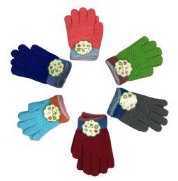 36 Units of Wide Children's Gloves - Kids Winter Gloves