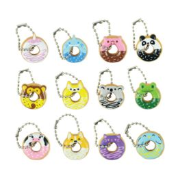 200 Wholesale I Love Donuts: Animals Key Chain Necklace Assortment