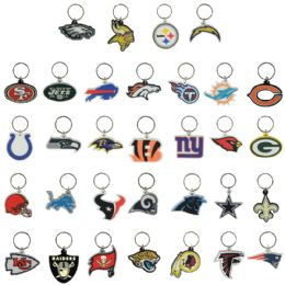 64 Wholesale NFL Soft Keychains