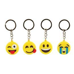 48 Wholesale 3D Emoji Keychain