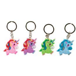 48 Wholesale Laser Cut Unicorn Keychain