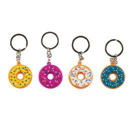 48 Wholesale Laser Cut Donut Keychain