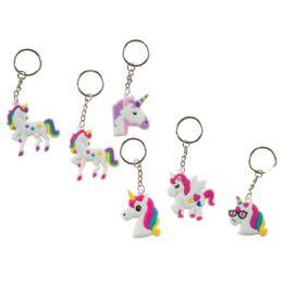 48 Wholesale Unicorn Keychains